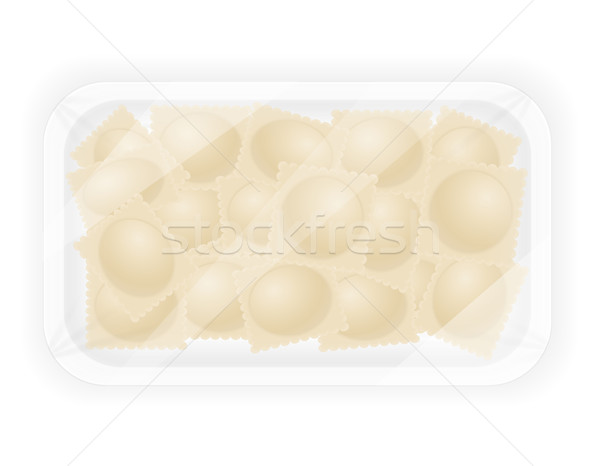 Ravioli vulling vector ziek geïsoleerd witte Stockfoto © konturvid
