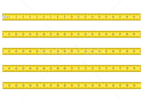 巻き尺 ツール ルーレット 孤立した 白 背景 ストックフォト © konturvid