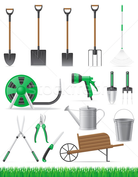 set garden tool vector illustration Stock photo © konturvid