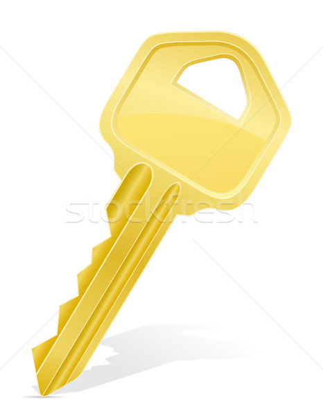Stock fotó: Kulcs · ajtó · zár · izolált · fehér · üzlet