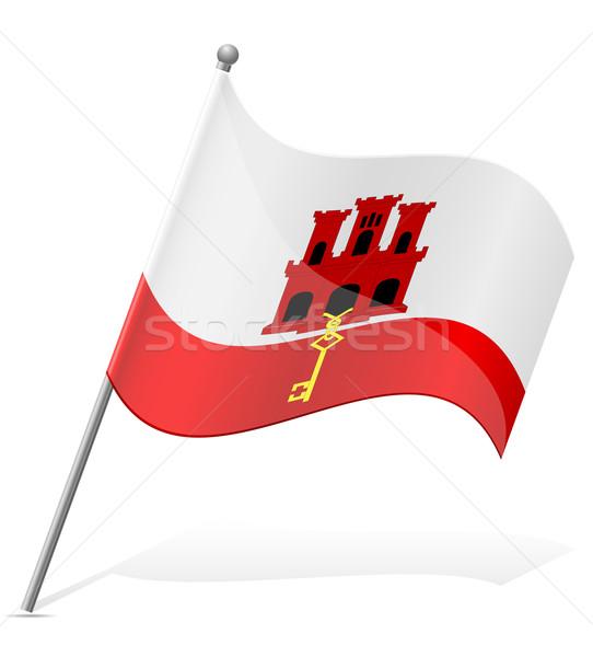 flag of Gibraltar vector illustration Stock photo © konturvid