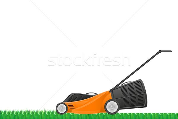 lawn mower stock vector illustration Stock photo © konturvid