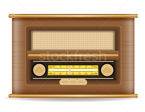 radio old retro vintage icon stock vector illustration Stock photo © konturvid