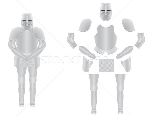 Lovag páncél test háttér posta maszk Stock fotó © konturvid