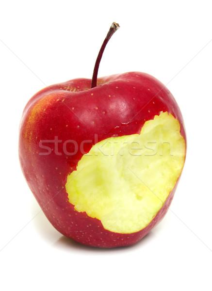 яблоко бит красное яблоко изолированный белый продовольствие Сток-фото © konturvid