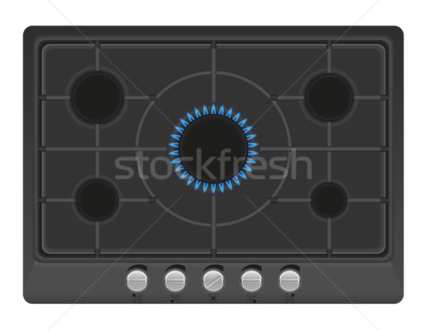 surface for gas stove vector illustration Stock photo © konturvid