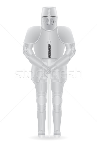 Lovag páncél kard izolált test háttér Stock fotó © konturvid