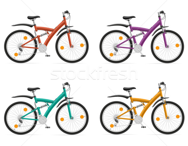 sports bikes with the rear shock absorber vector illustration Stock photo © konturvid