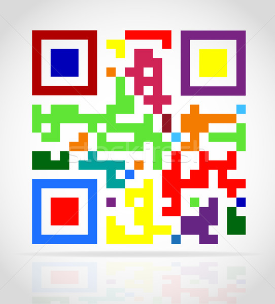 multicolored qr code vector illustration Stock photo © konturvid