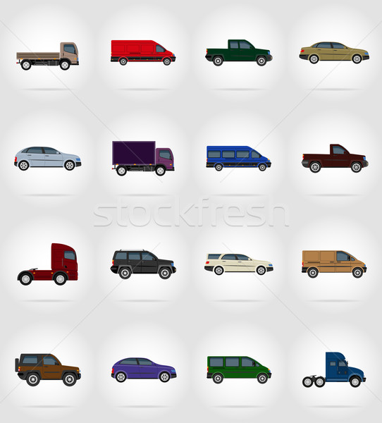 transport flat icons vector illustration Stock photo © konturvid