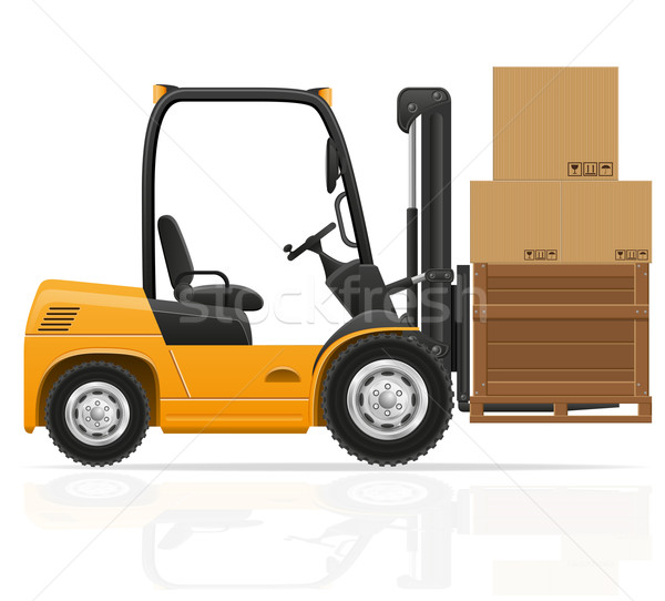 forklift truck vector illustration Stock photo © konturvid