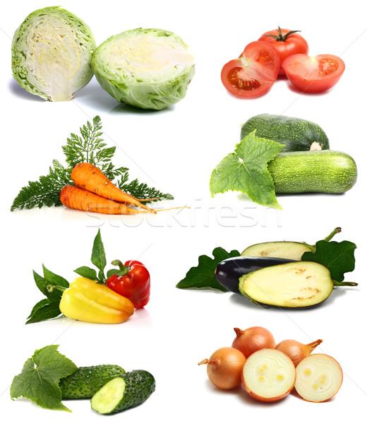 Friss vitaminok zöldségek izolált fehér étel Stock fotó © konturvid