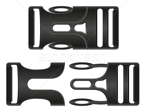 plastic buckle clasp vector illustration Stock photo © konturvid