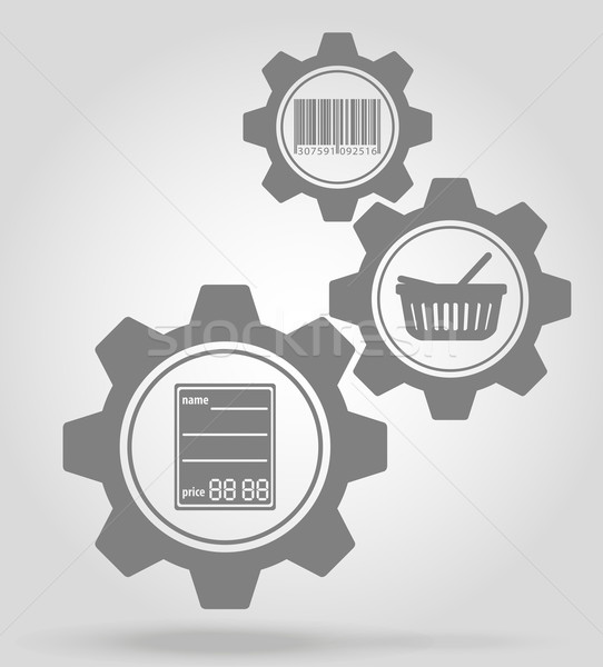 merchandise gear mechanism concept vector illustration Stock photo © konturvid