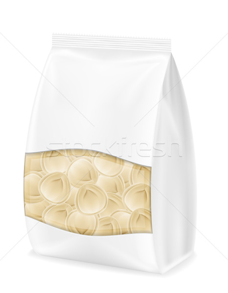 dumplings pelmeni of dough with a filling in packaged vector ill Stock photo © konturvid