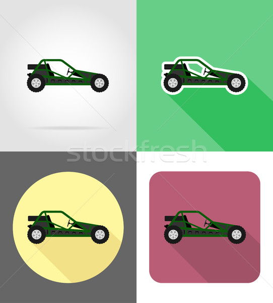 atv car buggy off roads flat icons vector illustration Stock photo © konturvid