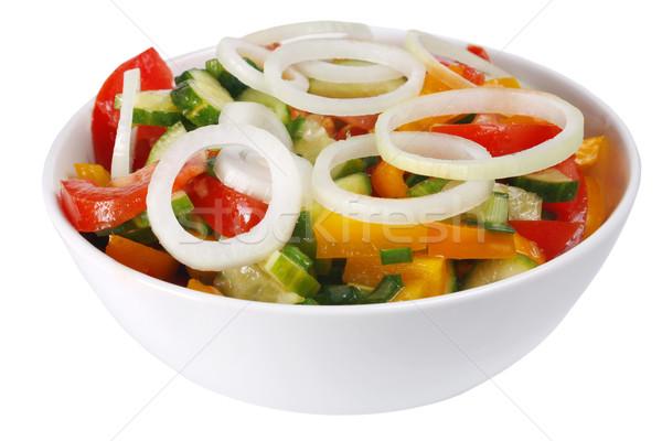 vegetable salad with a onion Stock photo © konturvid