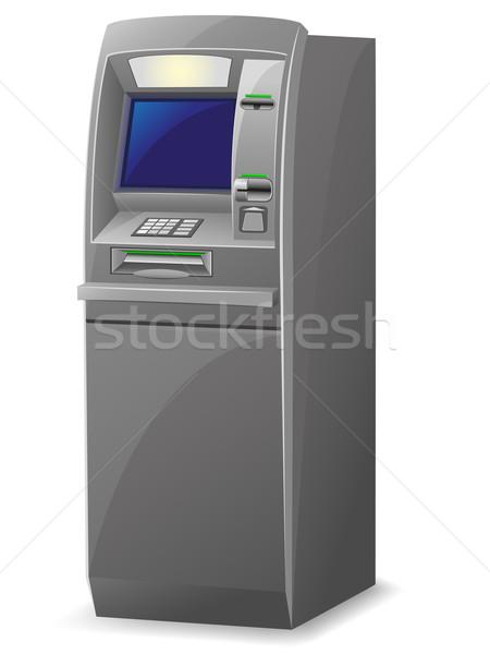 Atm isolato bianco soldi tecnologia tastiera Foto d'archivio © konturvid