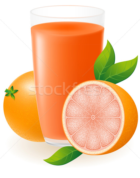 grapefruit juice vector illustration Stock photo © konturvid