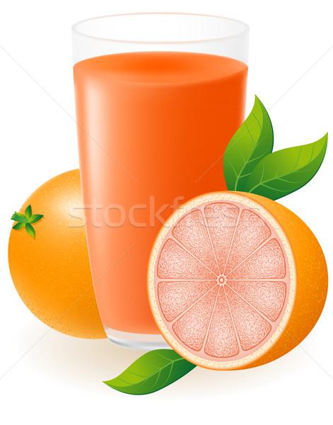 Grapefruit dzsúz izolált fehér víz természet Stock fotó © konturvid