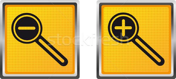 icons magnifier increase and decrease for design vector illustra Stock photo © konturvid