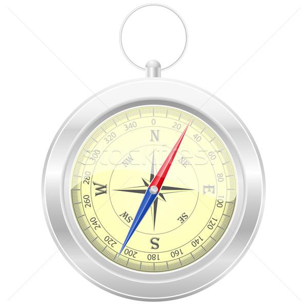 Kompas geïsoleerd witte achtergrond reizen schip Stockfoto © konturvid