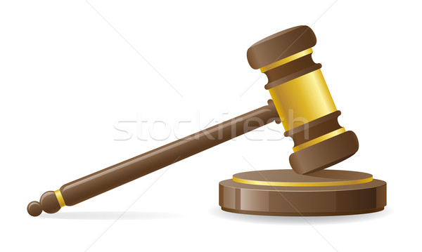 judicial or auction gavel vector illustration Stock photo © konturvid