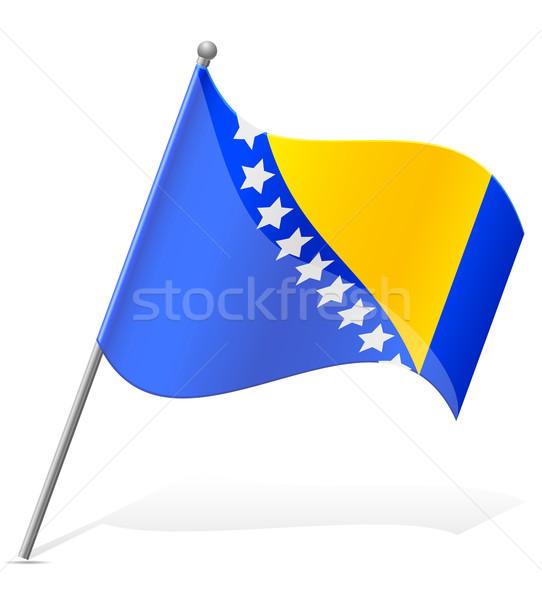 Bandeira Bósnia-Herzegovina isolado branco mundo pintura Foto stock © konturvid