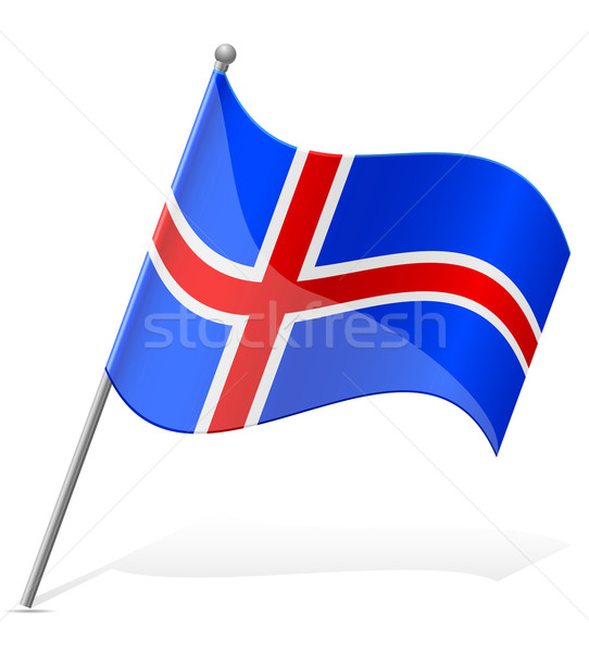 flag of Iceland vector illustration Stock photo © konturvid