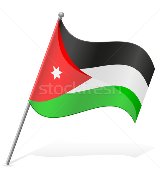 Flagge Jordan isoliert weiß Welt Erde Stock foto © konturvid