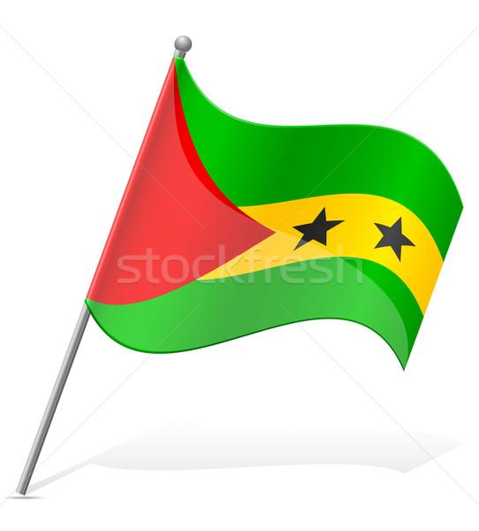 Bandera aislado blanco mundo mundo tierra Foto stock © konturvid