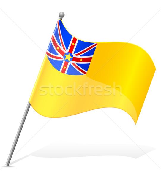 flag of Niuean vector illustration Stock photo © konturvid