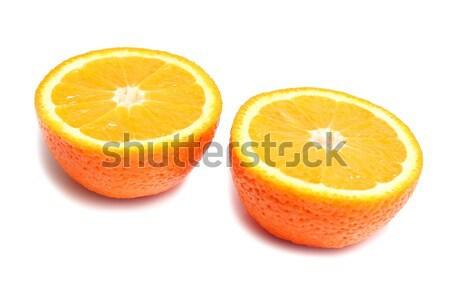 Stock fotó: Narancs · részleg · érett · izolált · fehér · természet