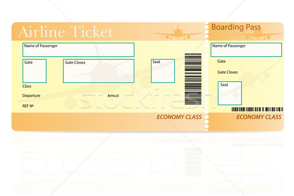 airline ticket economy class vector illustration Stock photo © konturvid