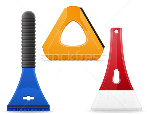 scraper for cleaning car from snow and ice vector illustration Stock photo © konturvid
