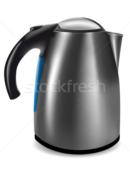 электрических чайник иллюстрация изолированный белый технологий Сток-фото © konturvid