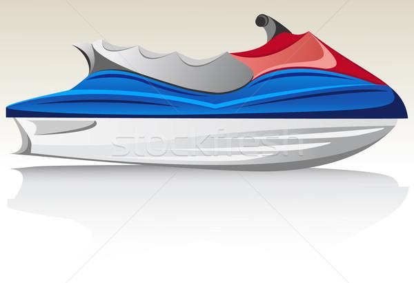 Jet ski számítógép sport tenger nyár sebesség Stock fotó © konturvid