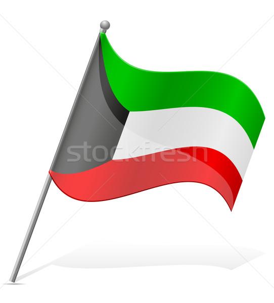 flag of Kuwait vector illustration Stock photo © konturvid