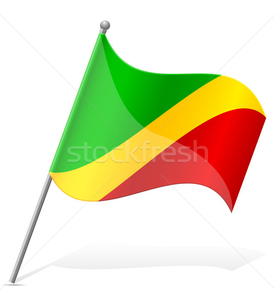 flag of Congo vector illustration Stock photo © konturvid