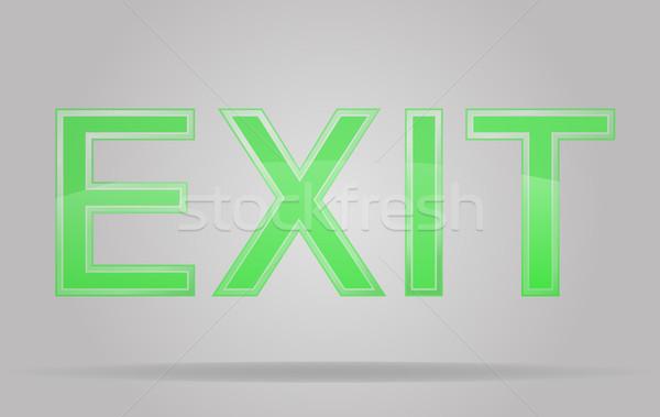 transparent sign exit vector illustration Stock photo © konturvid