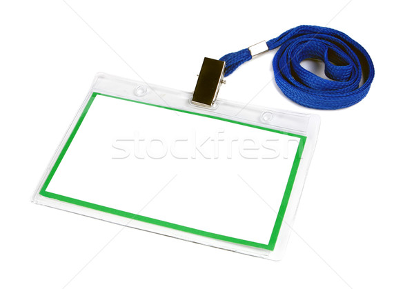 Kártya üres személyi igazolvány kitűző izolált fehér Stock fotó © konturvid