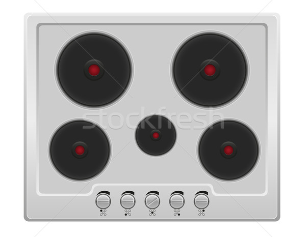 surface for electric stove vector illustration Stock photo © konturvid