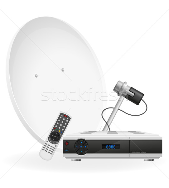 digital satellite receiver vector illustration Stock photo © konturvid
