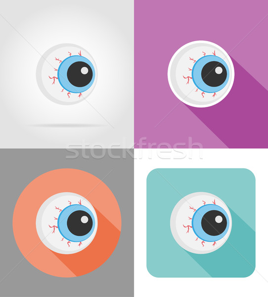 halloween eyeball flat icons vector illustration Stock photo © konturvid