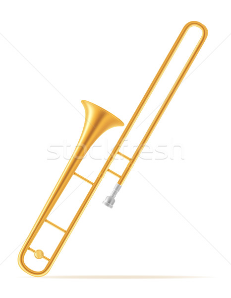Szél hangszerek stock izolált fehér zene Stock fotó © konturvid
