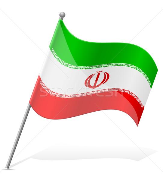 flag of Iran vector illustration Stock photo © konturvid