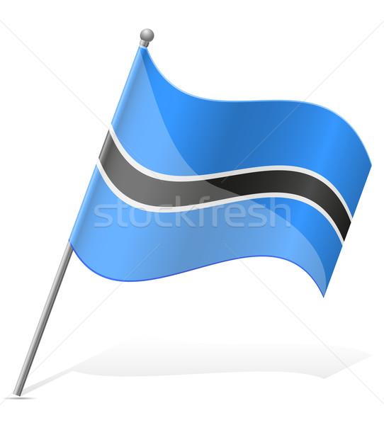 flag of Botswana vector illustration Stock photo © konturvid