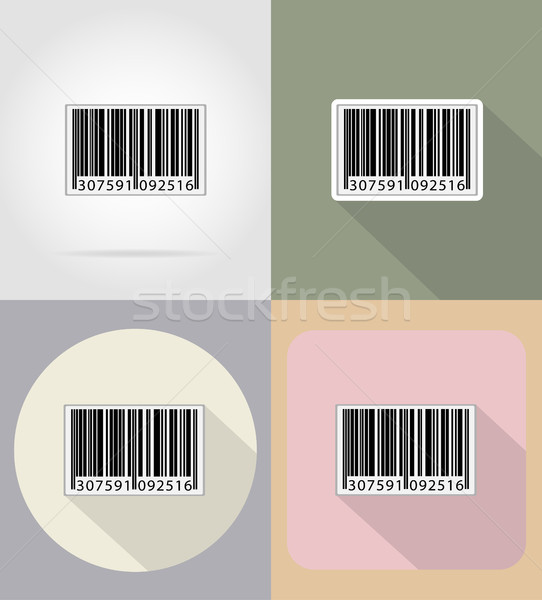 barcode flat icons vector illustration Stock photo © konturvid