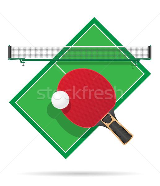 Ping pong tabeli odizolowany biały tenis zabawy Zdjęcia stock © konturvid