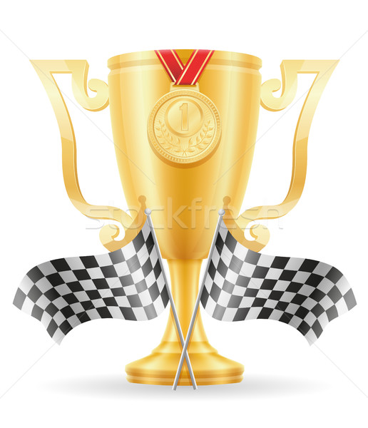 reccing cup winner gold stock vector illustration Stock photo © konturvid